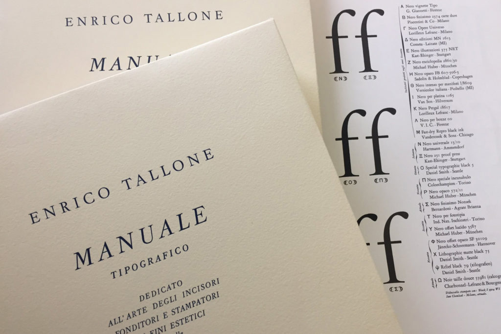 Manuale Tipografico IV published by Alberto Tallone Editore